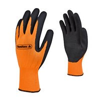 Gants PES orange latex noir APPOLON VV733 orange