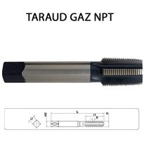 Tarauds machine Gaz NPT HSS Droit