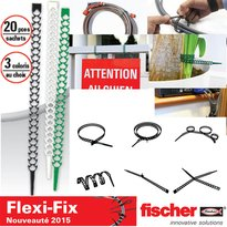 Flexi-Fix Colliers plastiques réutilisables, sachet de 20 colliers